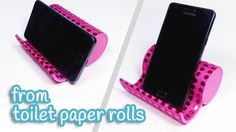 DIY crafts: PHONE HOLDER from toilet paper rolls - Innova Crafts