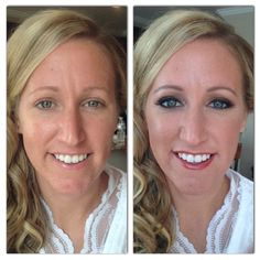 Before and after of bride, Michelle