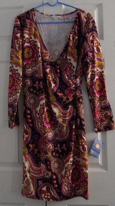 "Jude Connally Women's Dress, ""Diane"", XL, Medallion Boysenberry, New With Tags #JudeConnally #Dress"