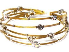 Silver & Gold Whispers Bracelet, Wire Bracelet, Designer Inspired with Rhinestones Hail Mary Gifts. Save 50 Off!. $19.99. 4 Layers