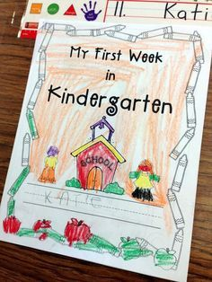 Teacher Bits and Bobs: first week of kindergarten - MARİE Kindergarten First Week, Welcome To Kindergarten, First Day Of School Activities, 1st Day Of School, Beginning Of The School Year, Preschool Kindergarten, Kindergarten Classroom, School Fun, School Ideas