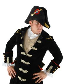 Admiral Bicorn Hat Adult Costume Accessory 82a28455503