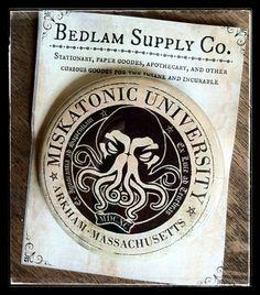 Miskatonic University Large 2.5 Pin Back Button by BedlamSupplyCo, $2.50