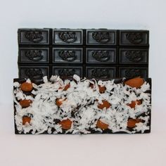 Delicious 72% dark chocolate bar with sweet coconut and roasted almonds. These high cocoa bars are always made in small batches, always made fresh!