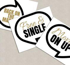 35 Divorce Party Printable props divorce by YouGrewPrintables