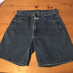 """Just In!  Vintage Girbaud High Waisted Shorts Vintage Marithe Francois Girbaud High Waisted Shorts. Style 223. Inside tag says size 13. Near new condition. Inseam:  12"""". Waist:  15"""" measured across front flat. Length is 17 3/4"""". Vintage Shorts Jean Shorts"""