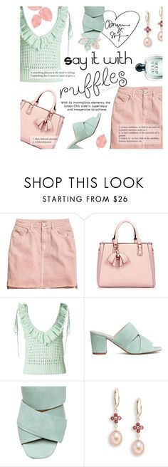 """""""Say it with ruffles"""" by xiandrina ❤ liked on Polyvore featuring HaveBest, Philosophy di Lorenzo Serafini, Saks Fifth Avenue, Giorgio Armani and ruffledtops"""