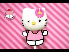 My cupcake addiction hello kitty cake pop Girl Cupcakes, Cute Cupcakes, Cupcake Cakes, Decorated Cupcakes, Torta Hello Kitty, Hello Kitty Birthday, Cake Pop Tutorial, Cupcake Videos, Marshmallow Pops