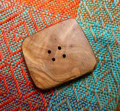 033 Natural, medium sized, rectangular, olive  wood button, handmade, one of a kind. di Piluck su Etsy