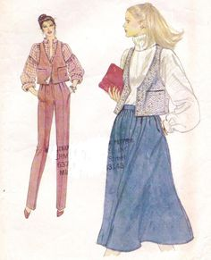 80s Very Easy Vogue Sewing Pattern 7194 Womens by CloesCloset, $11.00