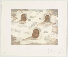 Claes Oldenburg (American, born Sweden Colossal Tea Bags in City Square and aquatintDimensions:plate 14 x 18 x cm) sheet 22 x 26 x cm)Credit Line:Gift of Mr. Claes Oldenburg, Moma, Contemporary Art, Vintage World Maps, City, Drawings, Sweden, Prints, Plate