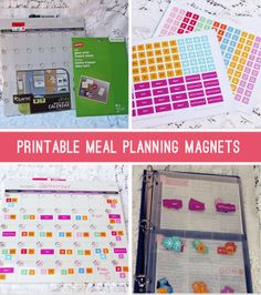 Pinch A Little Save-A-Lot: Recipe Binders & Magnetic Menu Planner - Part 2....Love this!  It would beat rewriting all of the recipes all of the time for my calendar.  I'm not sure if I could get use to the abbreviations and I like to have my main ingredients listed to make sure I'm not out.  But maybe...