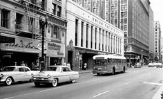 (1955) 3 Line Heading Eastbound on 6th between Olive and Hill