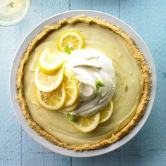 Sweet, tart, cool, and light are all words to describe this incredible Lemon Icebox Pie! More of our favorite magazine recipes here: http://www.bhg.com/recipes/from-better-homes-and-gardens/august-2012-recipes/?socsrc=bhgpin070614lemoniceboxpie&page=1