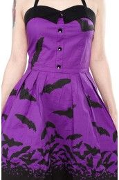 Purple Spooksville Bats Dress