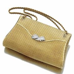 Womens Purses  : Gold and diamond evening bag Bucherer 1950s | lot | Sotheby's