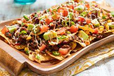 California Sheet Pan Nachos Top Recipes, Beef Recipes, Cooking Recipes, Cheesy Recipes, Hamburger Recipes, Turkey Recipes, Grilling Recipes, Mexican Dishes, Mexican Food Recipes