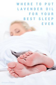 Where to put lavender essential oil for sleep