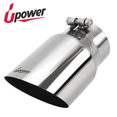 """Universal Diesel Trucks Car Exhaust Tip 4"""" Inlet 5"""" Outlet 9"""" Long Stainless Steel 304 Polished Bolt On Exhaust tailpipe #Universal #Diesel #Trucks #Exhaust #Inlet #Outlet #Long #Stainless #Steel #Polished #Bolt #tailpipe"""