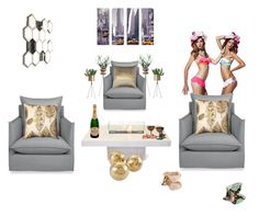 """""""Sex in the City """" by missactive-xtraordinary ❤ liked on Polyvore featuring interior, interiors, interior design, home, home decor, interior decorating, Seasonal Living, ZiGi Black Label, TAXI and TaylorSays"""