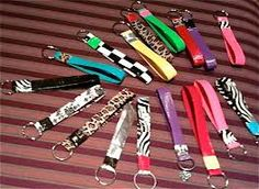 Duck tape key chains really easy to make all you need is 2 different colors of duck tape and a key ring