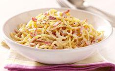 Pasta a la Carbonara Uk Recipes, World Recipes, Pasta Recipes, Italian Recipes, Cooking Recipes, Savoury Recipes, Italian Foods, Recipies, Easy Spaghetti Carbonara