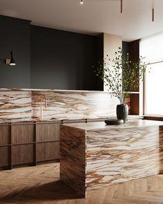 Modern Kitchen Images, Modern Kitchen Interiors, Interior Design Kitchen, Interior And Exterior, Transitional House, Apartment Design, Interior Design Inspiration, Interior Architecture, House Design