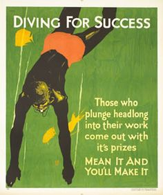 Willard Frederic Elmes poster: Diving For Success (Mather Work Incentive)