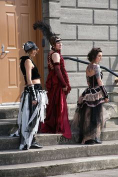 """""""Bustle and Corset Dresses"""" by Ann Hymas, upcycled eco-friendly fibers #Coture #Recycled #Fabric #Art"""
