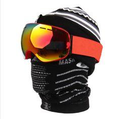 Aliexpress.com: Comprar Nueva Cara Invierno Máscara a prueba de Viento de Snowboard de Esquí Cráneo Máscara Motocicleta de La Bicicleta Ciclismo Media Mascarilla Al Aire Libre de mask motorcycle fiable proveedores en KQX Store