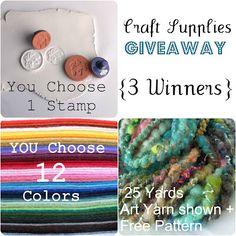 Craft supplies- 3 winners (ends 2/21)