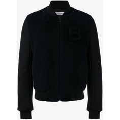 BALENCIAGA Shearling Teddy Jacket with B (€1.740) ❤ liked on Polyvore featuring men's fashion, men's clothing, men's outerwear, men's jackets and mens shearling jacket