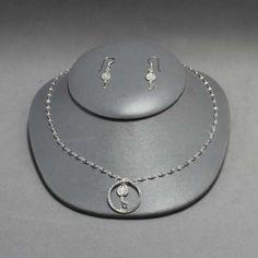 Collar y aretes de plata. Joyería de moda, necklace in sterling silver
