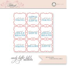 Free Candy Tags | printable candy buffet labels 3