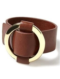 Leather Wide Belt Bracelet