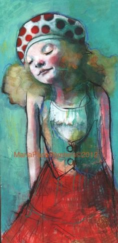 Mixed media painting on paper covered wood by sheila.moose