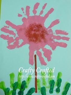 Handprint flower art