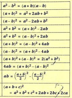 Maths Algebra Formulas, Math Vocabulary, Math Math, Kindergarten Math, Life Hacks For School, School Study Tips, Math Formula Chart, Math Tutorials, Maths Solutions