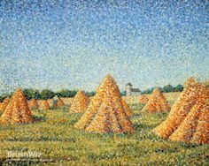 The Harvest by Charles Angrand - Oil Painting Reproduction - BrushWiz.com