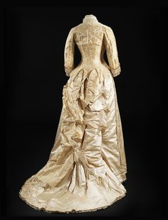 """Wedding dress, 1878-79  From the exhibition """"A Century of Style: Costume and Colour 1800-1899″ at Glasgow  Museums"""