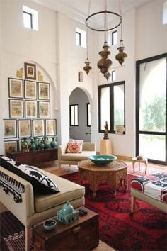 Moroccan and modern look good together - home decor