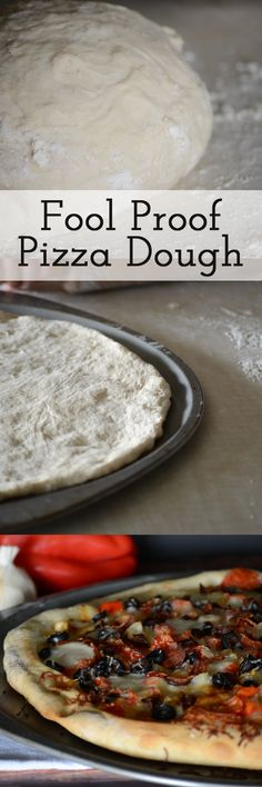 Fool Proof Pizza Dough - Need a quick pizza dough recipe for dinner tonight? This homemade pizza dough recipe is perfect and easy enough that the kids can help! Easy Homemade Recipes, Homemade Pasta, Easy Dinner Recipes, Yummy Recipes, Vegan Recipes, Pizza Dough Recipe Quick, Dough Pizza, Pizza Pizza, Breads