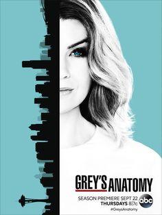 Grey's Anatomy: cartaz da 13ª temporada com Meredith e Seattle