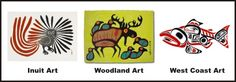 Style of Woodland Native art - from Native Art in Canada