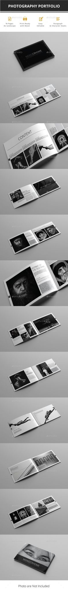 Portfolio Brochure Template InDesign INDD - 18 Pages A4 - Download: https://graphicriver.net/item/portfolio-indesign-template/21736227?ref=ksioks