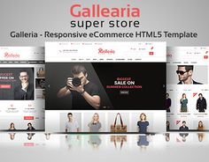 """Check out new work on my @Behance portfolio: """"Galleria – Bootstrap eCommerce Template"""" http://be.net/gallery/31883673/Galleria-Bootstrap-eCommerce-Template"""