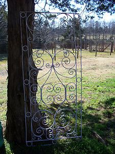 Antique Wrought Iron Fence With A French Design