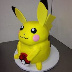 Angela works at CakeWalk Creations in San Carlos, CA. She creates these amazing cakes! Contact her at Teenage Girl Cake, Amazing Food Creations, Pikachu Cake, Happy Sunshine, Best Bakery, Pokemon Party, Happy Colors, 8th Birthday, Cake Cookies
