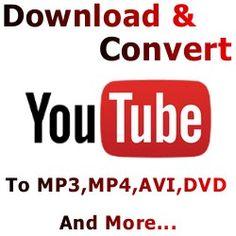 Convert YouTube Video to Mp3, Mp4 & Avi