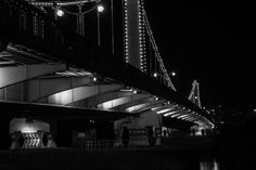 Chelsea Bridge comes into its own after dark.